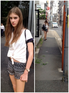 Karis walking to the agency. It's 32 degrees out and cloudy. #areweinBangkok?
