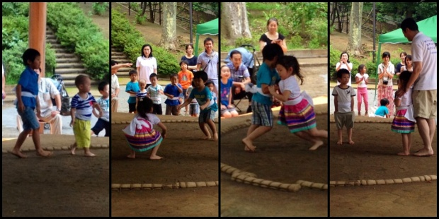 Heads up to the sumo world...the toddler and the little girl are the ones to watch. They've got HEART!